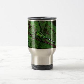 Grön slända resemugg