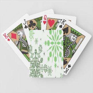 Grön snöflingor kortlek