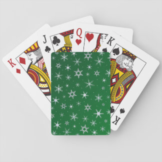Grön snöflingor spelkort