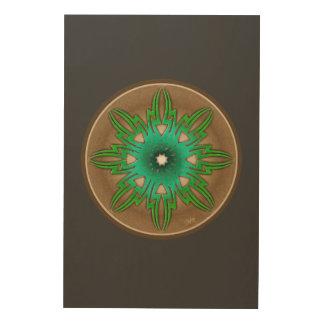 Grön sol trätavla