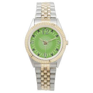 Grön solMandala Armbandsur