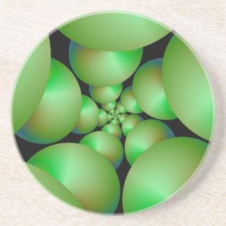 Grön Spherespiralkustfartyg Underlägg Sandsten
