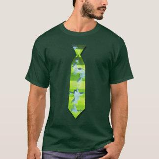 Grön spricka utskrivaven tie t-shirt