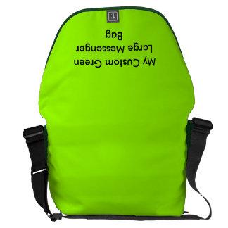 Grön stor messenger bag för anpassningsbar