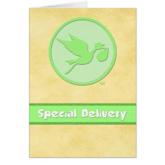 Grön Stork: Speciell leverans Hälsningskort