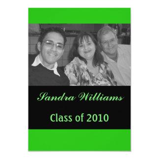 Grön studenten 12,7 x 17,8 cm inbjudningskort