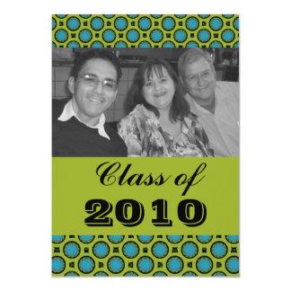 grön studenten för turkos 12,7 x 17,8 cm inbjudningskort