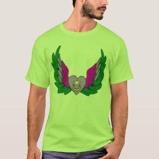 Grön Sufi bevingad hjärta Tshirts