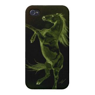 Grön svart häst som fostrar fodral för iPhone 4 iPhone 4 Skal