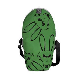 Grön & svart J. Oavbrutet tjata Logotyp messenger Kurir Väska
