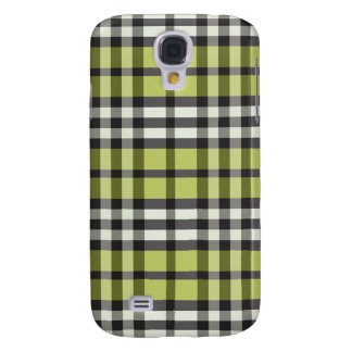 Grön/svart pläd Pern för limefrukt Galaxy S4 Fodral