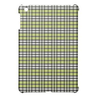 Grön/svart pläd Pern för limefrukt iPad Mini Mobil Skal
