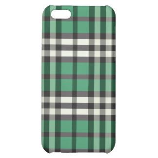 Grön/svart pläd Pern iPhone 5C Mobil Skydd