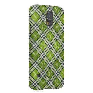 Grön Tartan Galaxy S5 Fodral