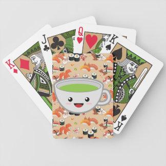 Grön Tea och Sushi Spelkort