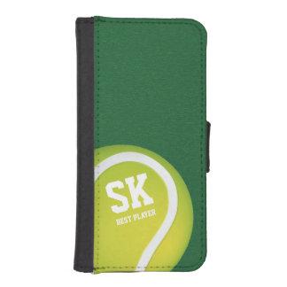 Grön tennisboll för personlig iPhone 5 plånböcker