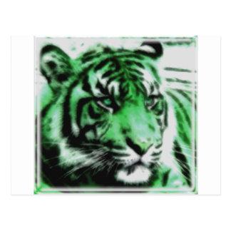 Grön tiger vykort