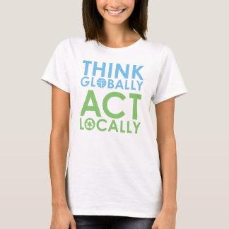 Grön TJED/T-tröja för blåtttextmiljöaktivist Tröja