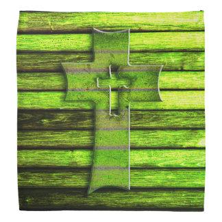Grön träkor för neon bandana