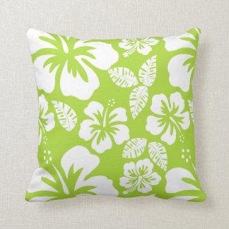 Grön tropisk hibiskus för Citron Kudde