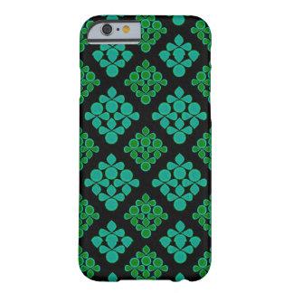 Grön turkos lämnar rombmönster barely there iPhone 6 fodral