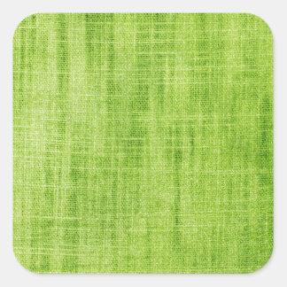 Grön tygstruktur fyrkantigt klistermärke