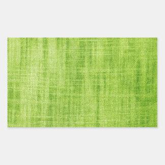 Grön tygstruktur rektangulärt klistermärke