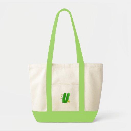 Grön U-monogram Tygkassar