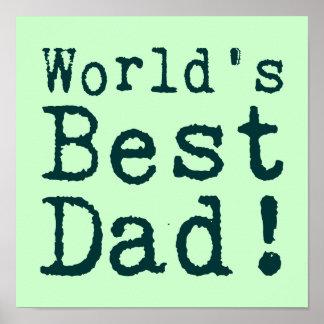 Grön världs bäst pappa poster