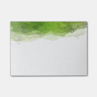 Grön vattenfärg post-it block