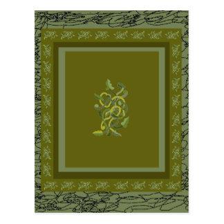 Grön VinesVineattica 2 formgivare CricketDiane Vykort