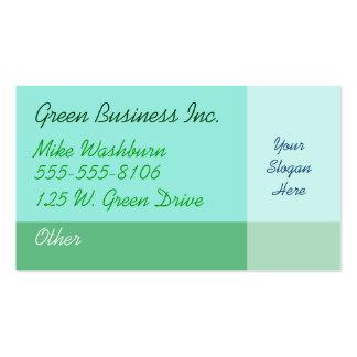 Grön visitkort