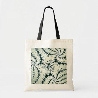Grön webs - delikat fractalsnöre tote bag