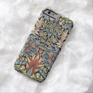 Grön William Morris för blått Tapestry Barely There iPhone 6 Skal