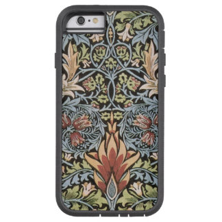 Grön William Morris för blått Tapestry Tough Xtreme iPhone 6 Skal