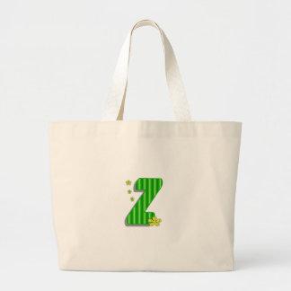 Grön z-Monogram Jumbo Tygkasse