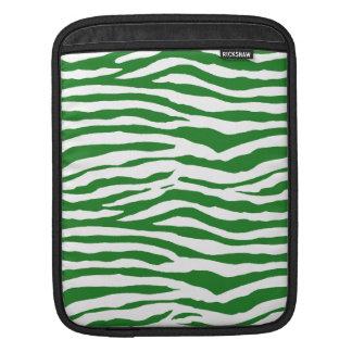 Grön zebra ränder iPad sleeve