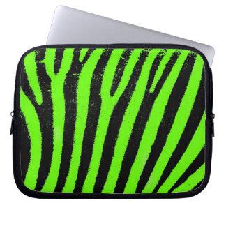 grön zebra ränderNeoprenelaptop sleeve Laptop Datorfodral