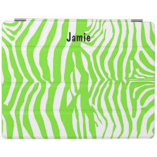 Grön zebra tryckipad cover iPad skydd