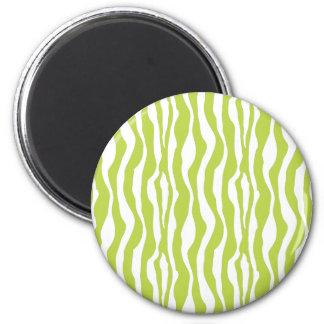 Grön zebra tryckmagnet för vild magnet
