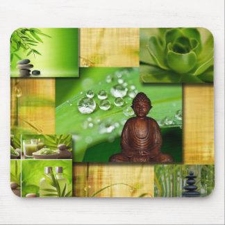 Grön Zen & Buddha SerenityCollage Musmatta
