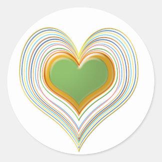 Gröna älsklingar för smaragd -   ungelager runt klistermärke