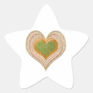 Gröna älsklingar för smaragd -   ungelager stjärnformat klistermärke
