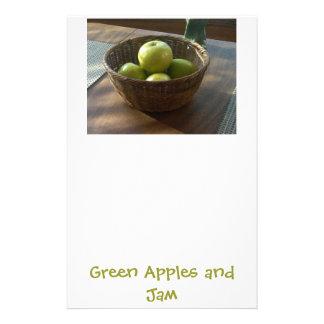 Gröna äpplen och sylt brevpapper