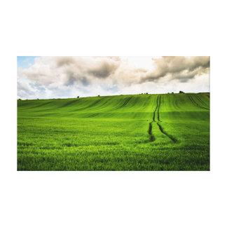 Gröna backar canvastryck