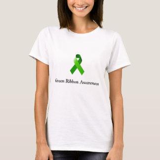 Gröna bandmedvetenhetkvinna skjorta tee