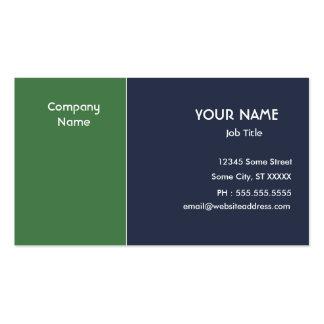 Gröna blått set av standard visitkort