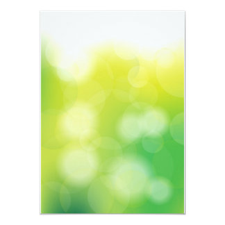 Gröna Bokeh 12,7 X 17,8 Cm Inbjudningskort