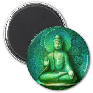 Gröna Buddha Kylskåpsnagnet