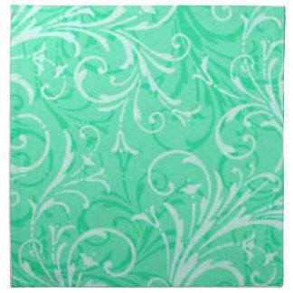 Gröna dekorativa servetter för Mint
